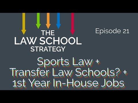 Sports law (w/ Dan Werly) + 1st year in-house job + law school transfer [Law School Strategy Ep. 21]