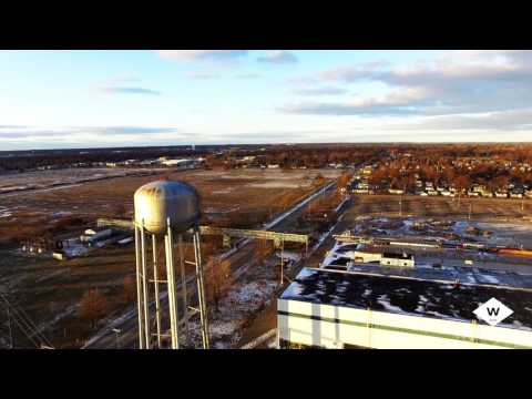 Flyover Abandoned AC Delco Auto Factory in Flint, MI