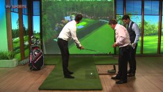 Sky Sports Shot Centre - Jamie Redknapp and Michael Ballack play the 16th at Augusta
