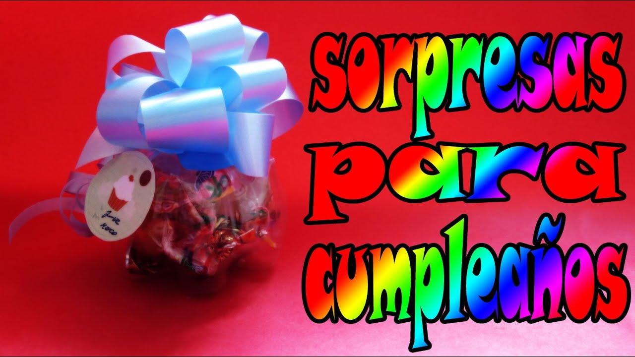 Reciclaje sorpresas para cumplea os youtube - Regalos para fiestas de cumpleanos infantiles ...
