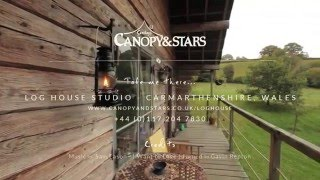 Log House Studio - Sawday's Canopy & Stars | Glamping in Wales