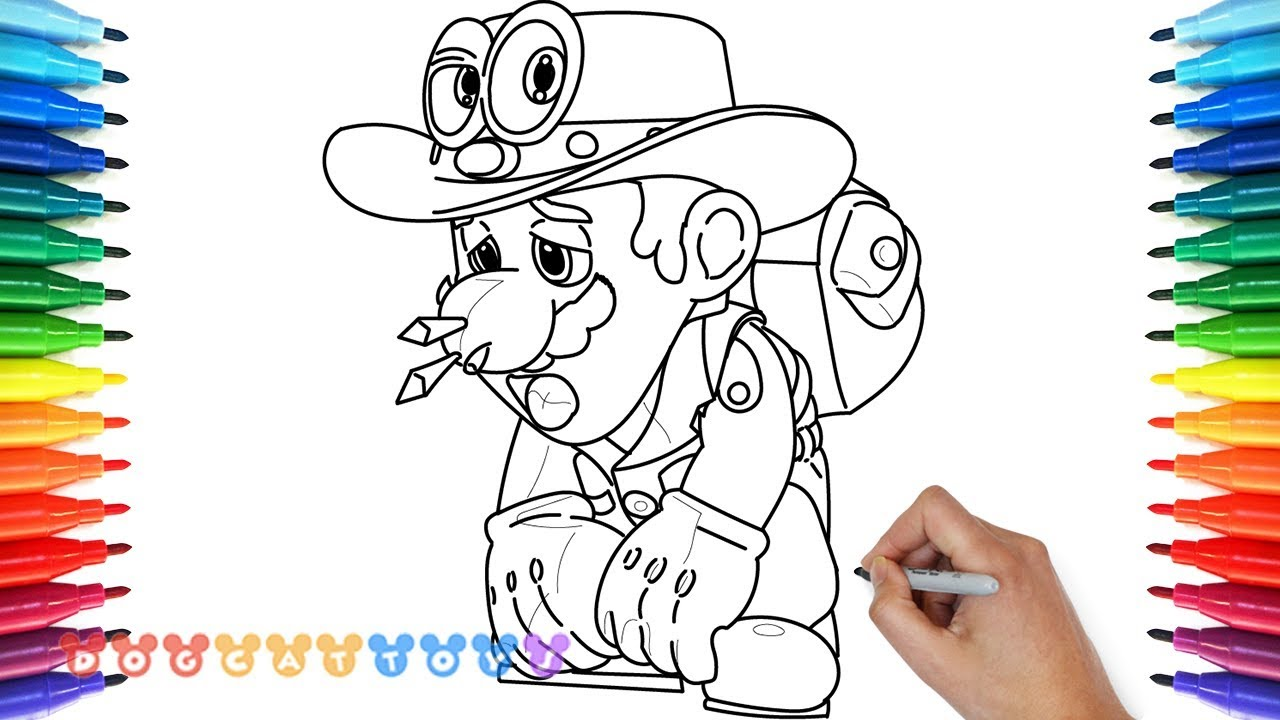 How to Draw Super Mario Odyssey 17 Drawing Coloring