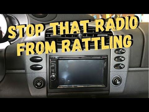 Porsche 996 Radio Rattle Fix DIY!