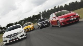 VW Golf GTI vs. BMW 125i vs. Mercedes A 250 vs. Ford Focus ST