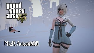 GTA 5 - NIER AUTOMATA COPIED CITY JUMPERS (GTA 5 PC MODS NVR)