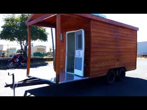 For Sale Food Cart Cedar Wood BBQ