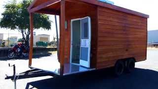 For Sale Food Cart Cedar Wood Bbq
