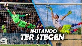 IMITANDO la PARADA de TER STEGEN !!! (99,9% IMPOSIBLE) | GeraXtreme
