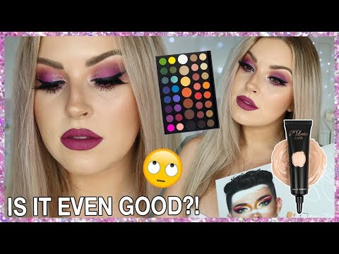 WORLDS MOST HYPED Eyeshadow Palette & Primer! 💕🤔 James Charles Palette & PLouise Base