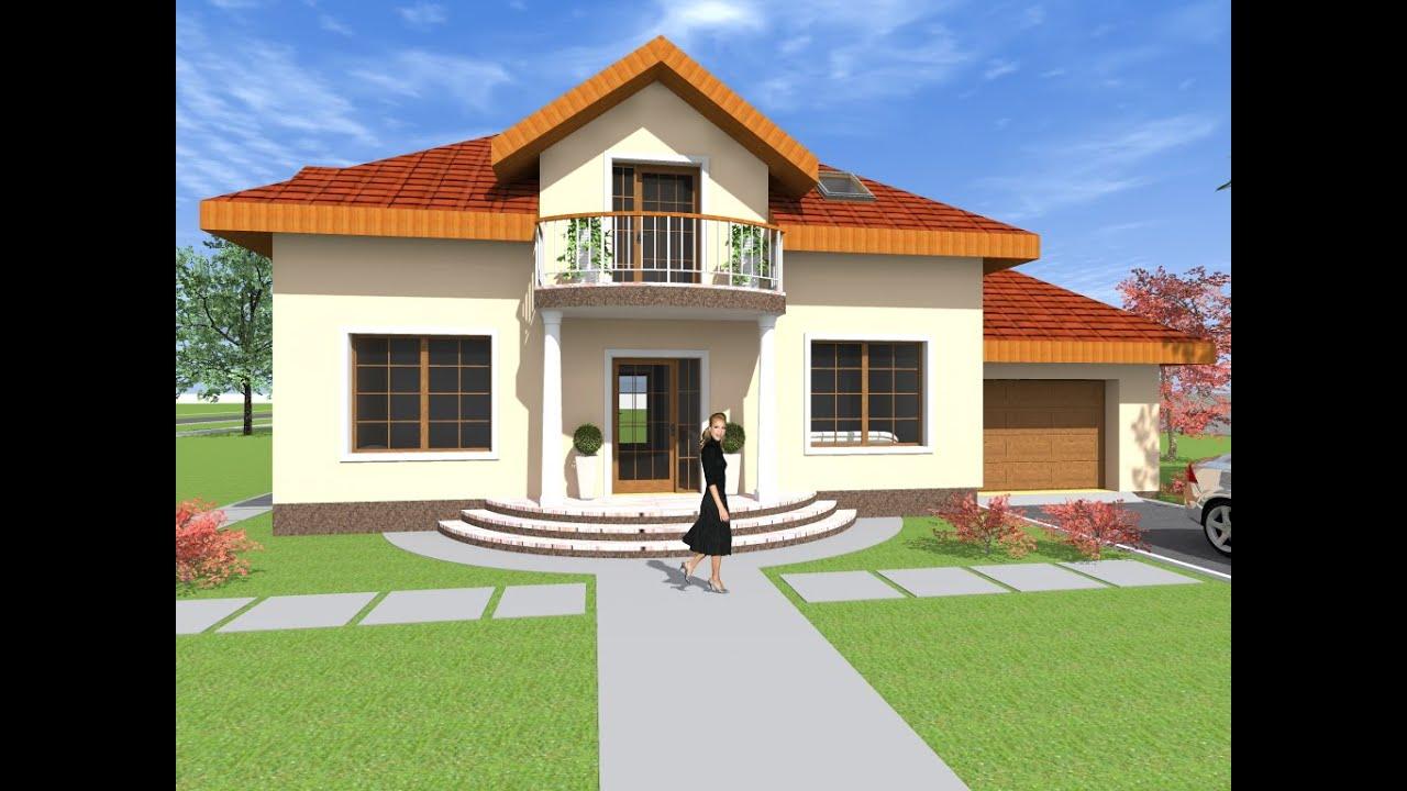 Proiect casa cu mansarda model nc21 140 de metri patrati for Youtube case cu mansarda