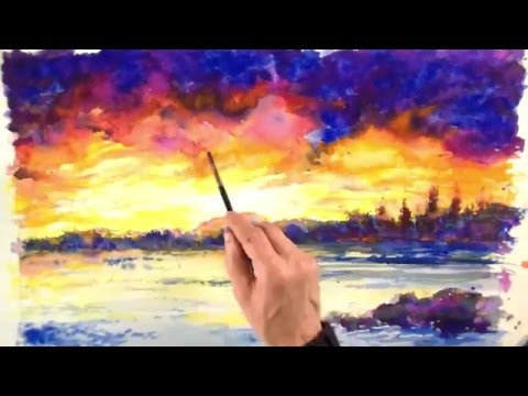SPEEDPAINT LANDSCAPE SUNSET