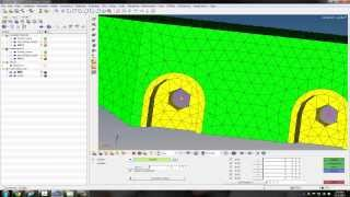 Setting up the Geometry, Mesh, and Boundary Conditions in HyperMesh 11.0