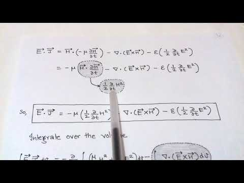 4.9 WAVE POWER & THE POYNTING THEOREM for I.E.S./G.A.T.E.