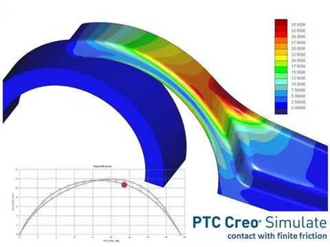 PTC Creo Simulate 3.0: Contact Analysis With Finite Friction