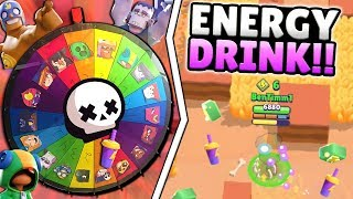 RANDOM SHOWDOWN BRAWLERS w/ ENERGY DRINK AT HIGH TROPHIES! WHAT COULD GO WRONG??