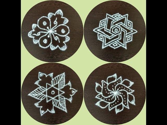 SIMPLE,EASY RANGOLI DESIGNS 7 X 4 DOTS/Rangoli kolam collections/7 dots muggulu/Kolam rangoli