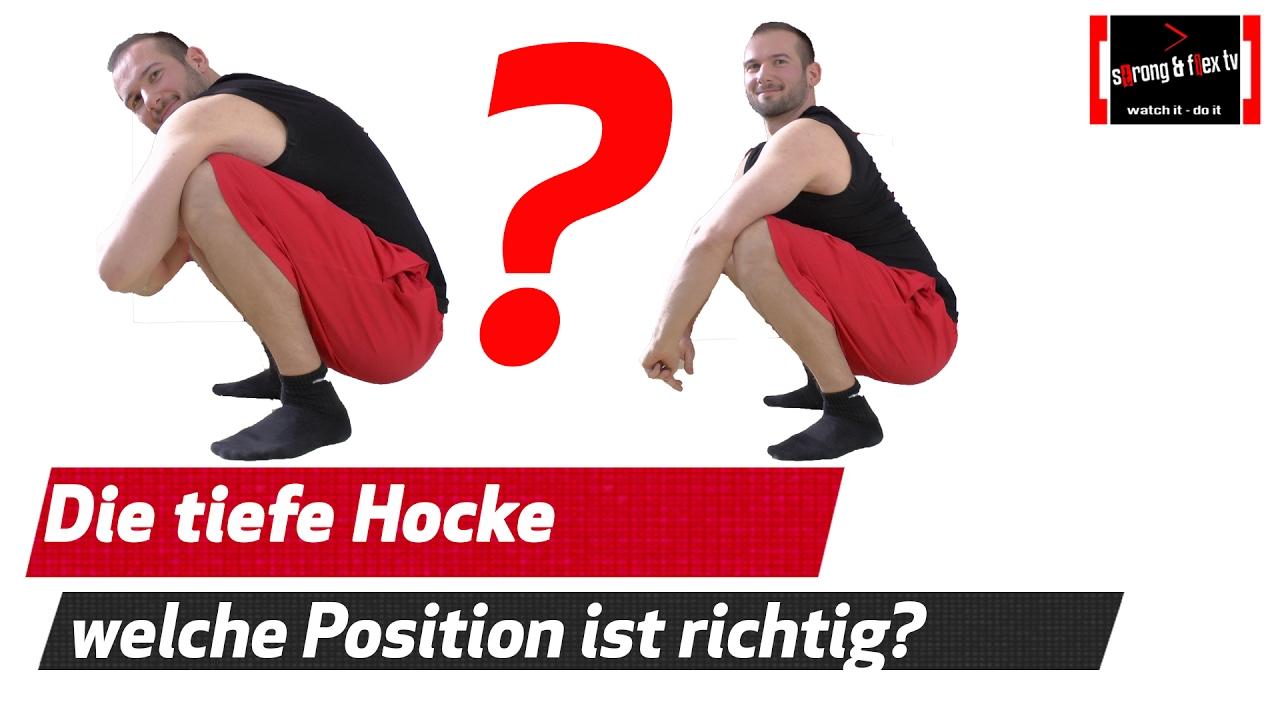 Tiefe hocke Hocke Challenge Wir beantworten Eure FAQs