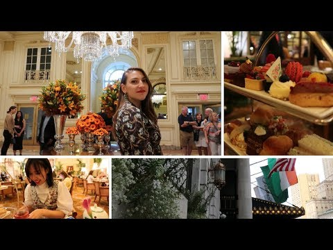 Vlog #8 | Afternoon Tea at the Plaza NYC | My Night Time Routine