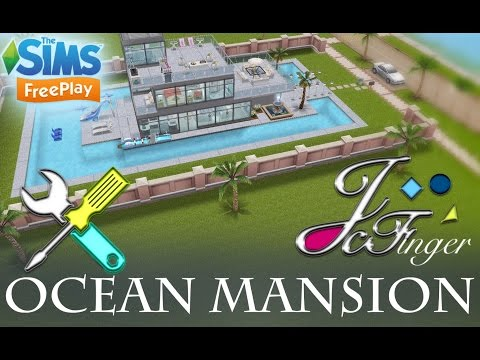 Sims FreePlay (LIVE BUILD) Ocean View Mansion by Joy.