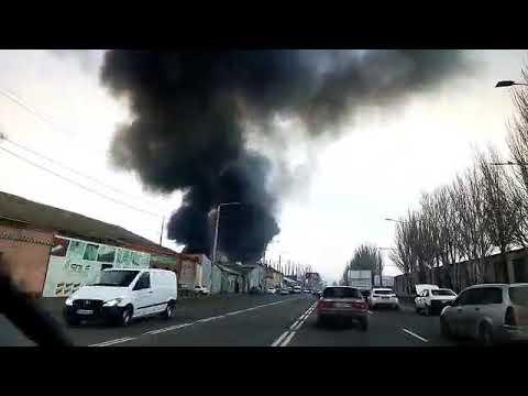Сильный пожар в Одессе! Горит новая почта 15 декабря 2018 год.