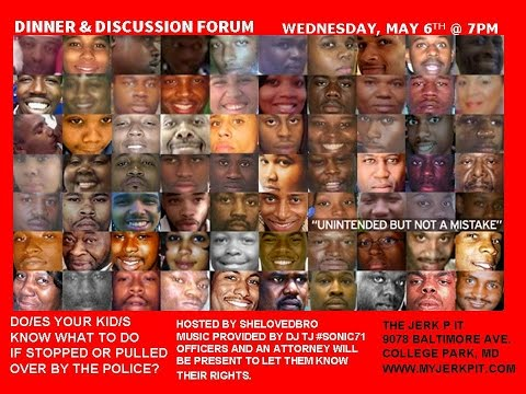 #DinnerNDiscussion || #FreddieGray For Kids || Attorney || Police || Forum