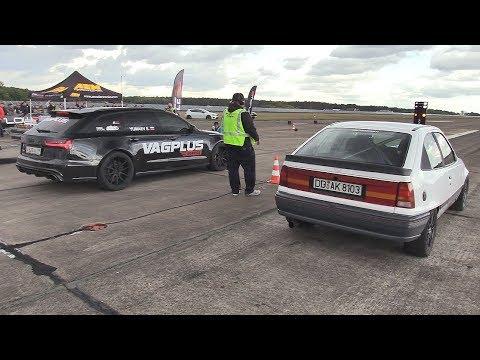 700HP Opel Kadett Turbo Vs Audi RS6 Avant C7