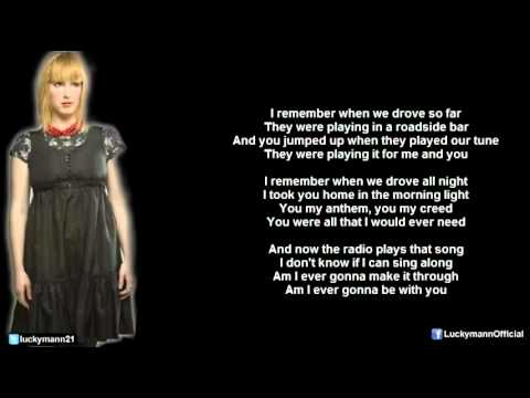 Sixpence None The Richer - Radio (Lyric Video) Lost In Transition (2012)
