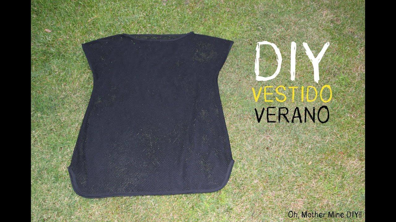 0b692bbca DIY Cómo hacer vestido veraniego para la playa muy fácil (patrón gratis)