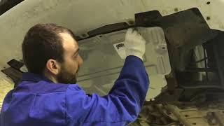 Установка защиты картера двигателя на Lada Vesta. Аксессуары / доп. оборудование