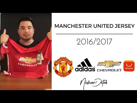 Manchester United Jersey 2016/2017 Aliexpress Unboxing and review Adidas Football Shirt