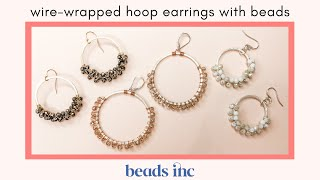 Wire-Wrapped Hoop Earrings With Beads: A Tutorial
