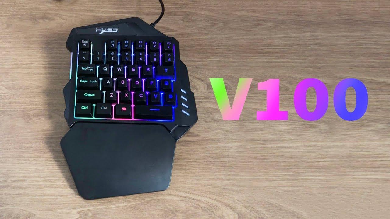 Bàn phím bán cơ chơi game HXSJ  V100 có tựa kê tay rất thoải mái