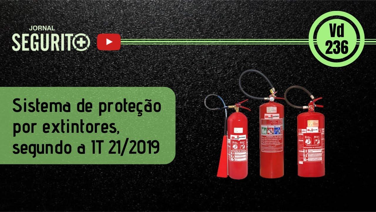 Sistema de proteção por extintores, segundo a IT 21/2019