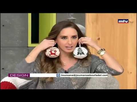 Designs byJoumana Abou Fadel  Mtv Lebanon 10 December 2016 |Crochet In Christmas Decorations