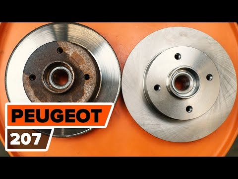 How to change rear brake discs on PEUGEOT 207 [TUTORIAL AUTODOC]