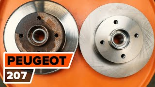 Replacing Brake rotors set on PEUGEOT 207: workshop manual