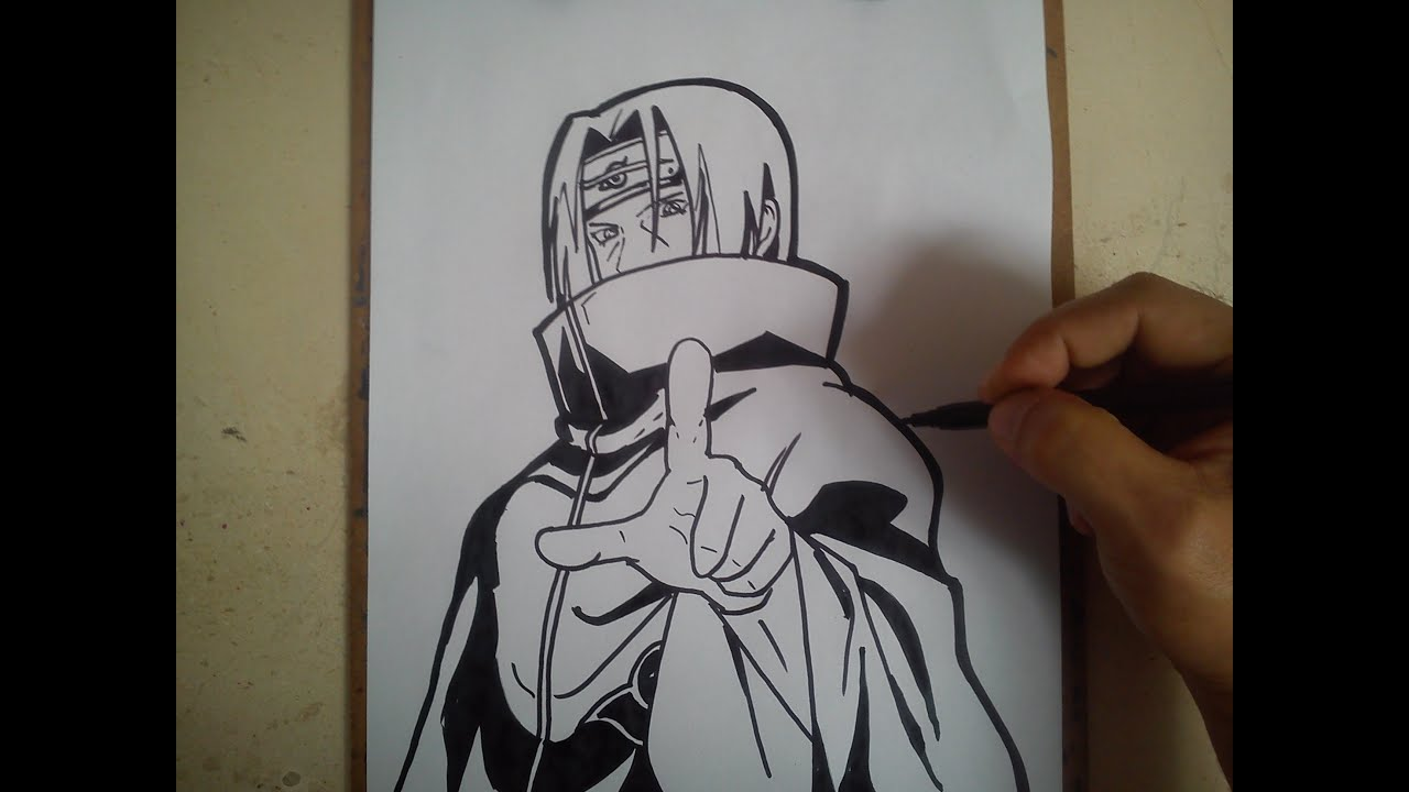 como dibujar a itachi uchiha how to draw itachi uchiha youtube