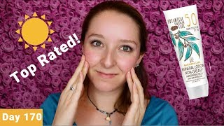 Australian Gold Botanical Spf 50 Tinted Face Lotion Sunscreen Review Day 170 Youtube