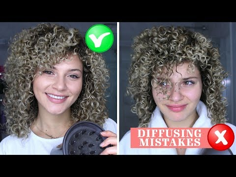 4 CURLY HAIR DIFFUSING MISTAKES THAT EVERYONE MAKES + HOW TO