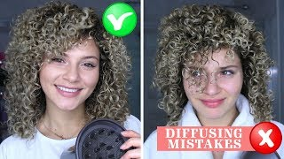 4 CURLY HAIR DIFFUSING MISTAKES THAT EVERYONE MAKES + HOW TO FIX THEM