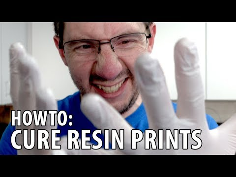 3D Printing in Resin - How To Finish and Cure the Prints, Shown on a Peopoly Moai! 3D Printer