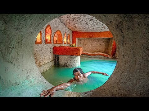 How To Build Secret Tunnel Underground Home And  Water Slide Swimming Pools
