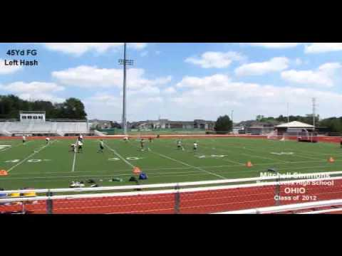 Mitchell Simmons Football Highlight Video Kicking Camp 2011.avi
