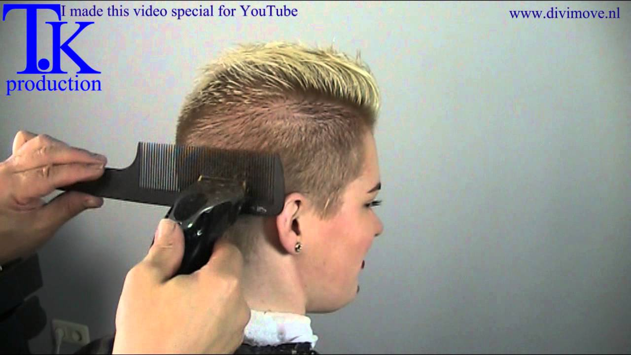 Holala This Girl S Ultra Short Hairstyle By Theo Knoop Youtube