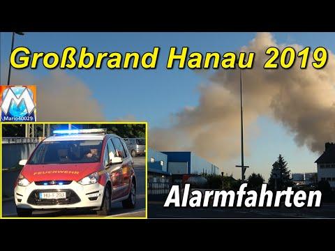21.06.2019 Großbrand Im Hanauer Hafen - Alarmfahrten