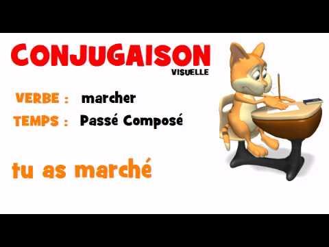 Conjugaison Marcher Passe Compose Youtube