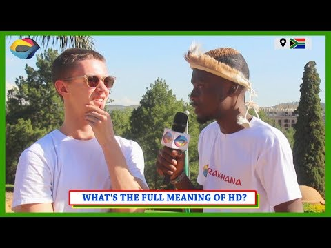 What's the Full Meaning of HD? Street Quiz South Africa | Street Quiz Mzansi | Funny African Videos