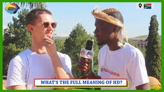 Whats the Full Meaning of HD Street Quiz South Africa  Street Quiz Mzansi  Funny African Videos