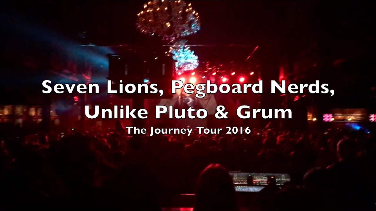 seven lions pegboard nerds unlike pluto grum journey tour the filmore 2016 youtube. Black Bedroom Furniture Sets. Home Design Ideas