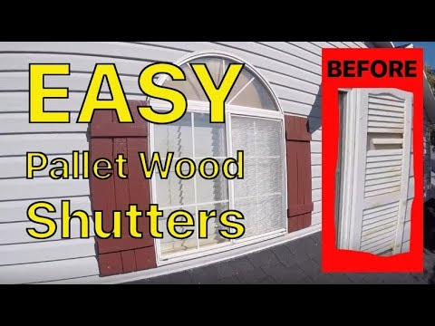 Home Shutters DIY - replace original plastic broken shutters make your own with pallet wood #upcycle